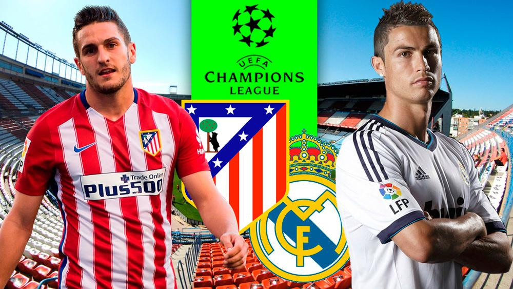 Ver Atletico vs Real Madrid Champions