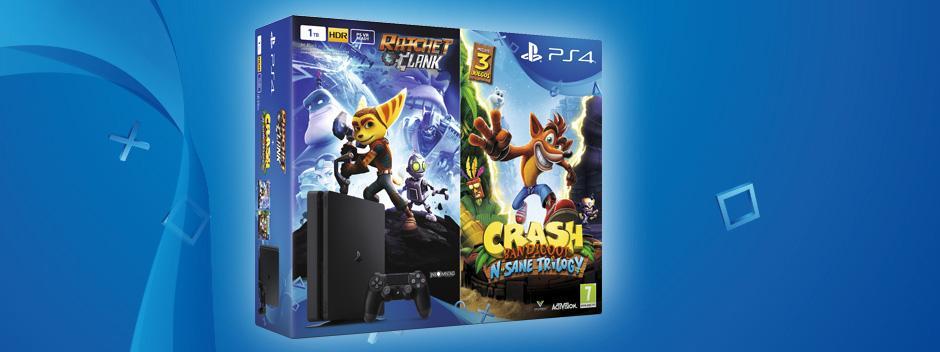PS4 pack con Crash Bandicoot y Ratchet & Clank