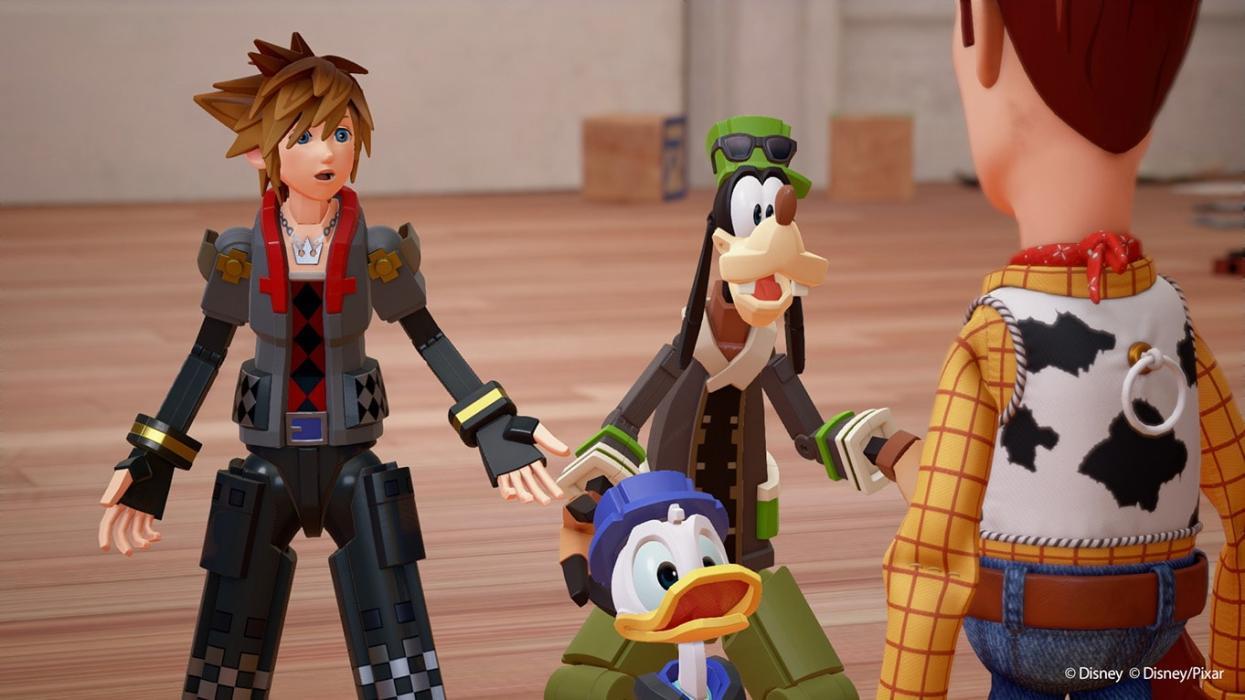 Imágenes de los mundos de Toy Story y Monte del Olimpo de Kingdom Hearts 3