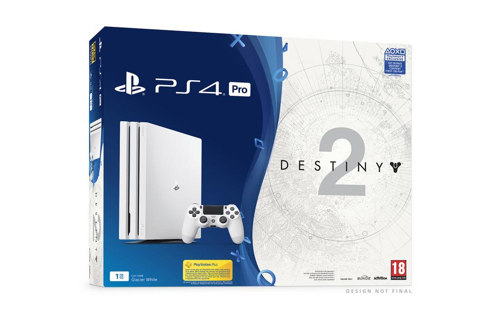 Pack PS4 Pro Glacier White con Destiny 2