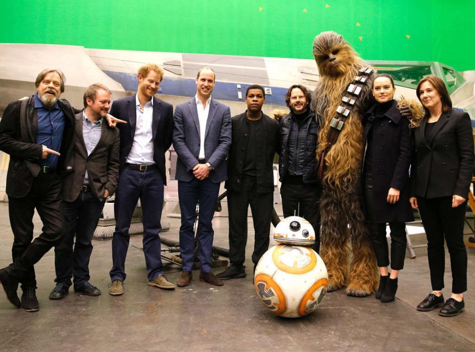 Star Wars: Los últimos Jedi cameo de los príncipes de Inglaterra