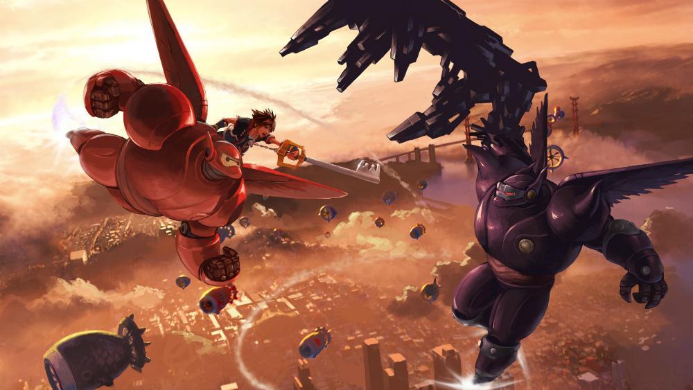 Resultado de imagen de KINGDOM HEARTS III big hero 6