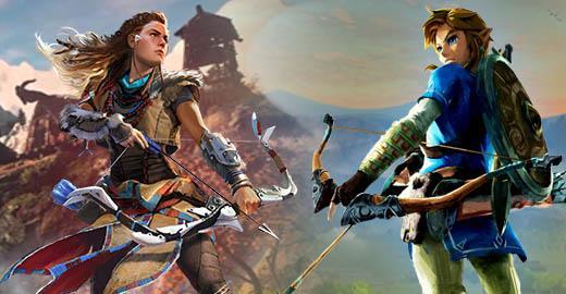 Horizon Zero Dawn y The Legend of Zelda Breath of the Wild