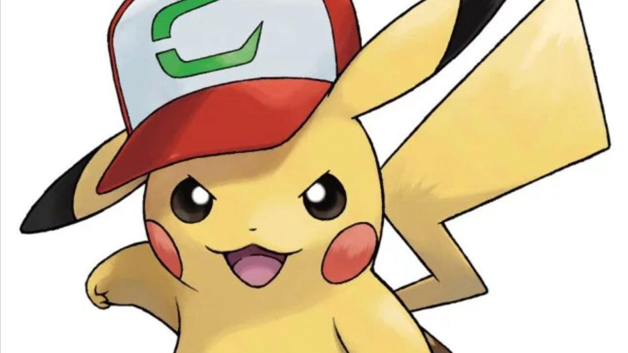 Pikachu con gorra de Ash