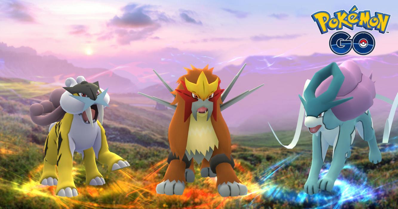 Pokémon GO perros legendarios