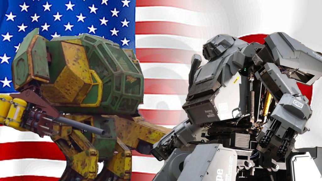EEUU vs Japon robots gigantes