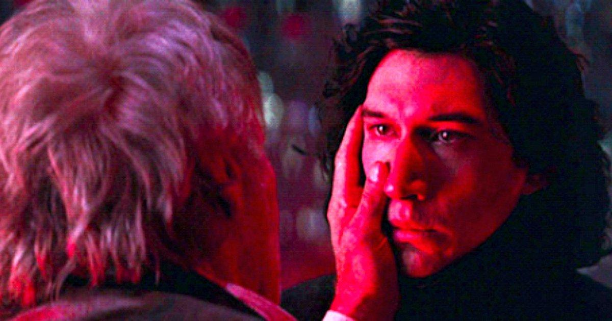 Kylo Ren y Han Solo en Star Wars: El despertar de la Fuerza