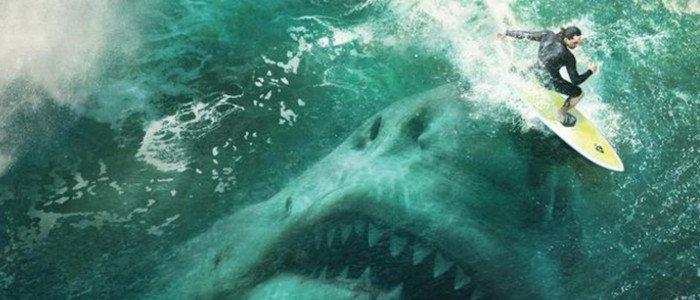 Surfista, tiburón, megalodón