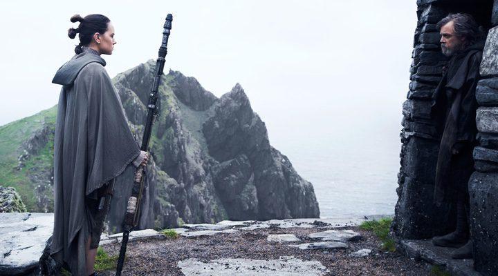 Rey y Luke en Star Wars: Los últimos Jedi