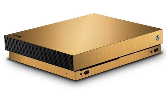 Xbox One X dorada