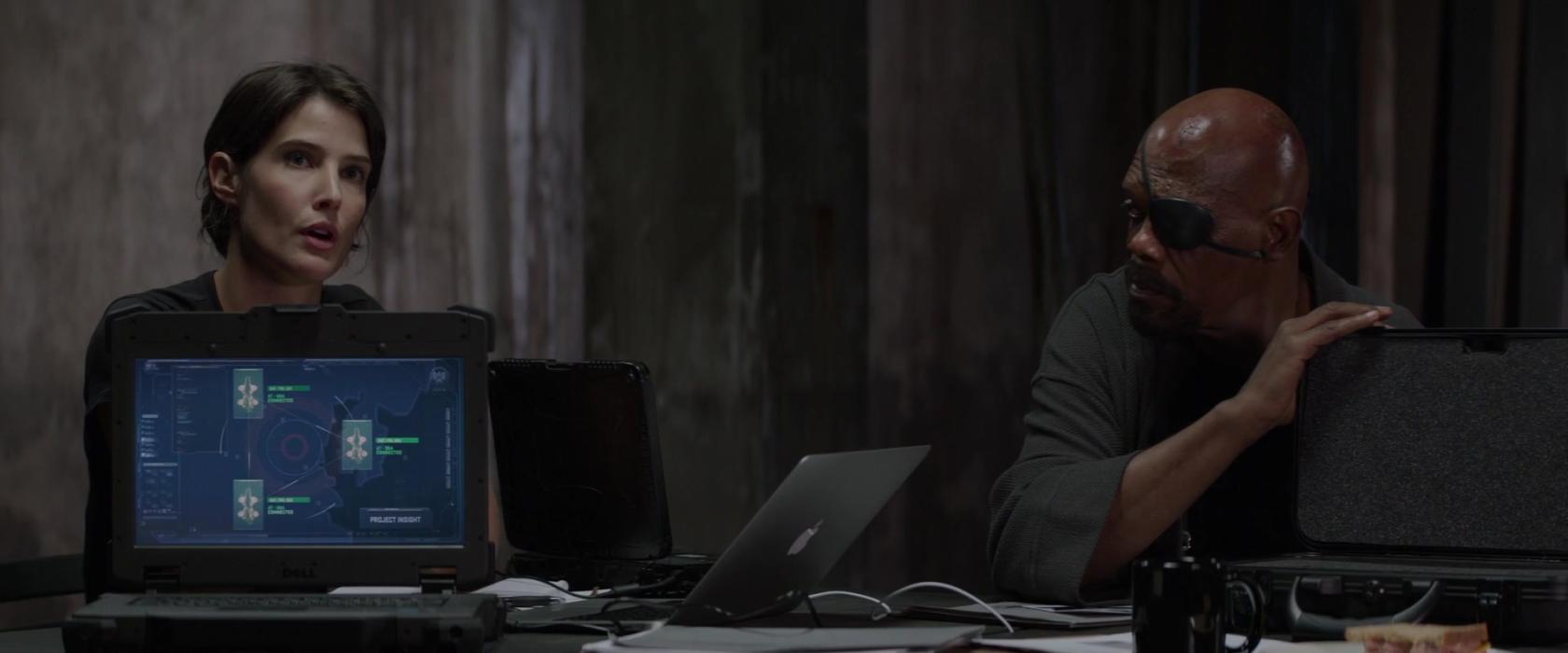 Cobie Smulders y Samuel L. Jackson en Capitán América: El Soldado de Invierno