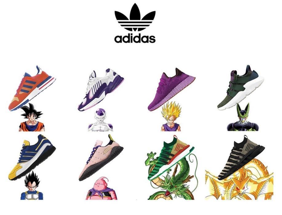 Dragon Ball - Los 8 modelos de zapatillas Adidas y el tráiler ... 93a0c786f2947