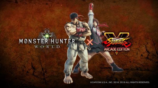 Sakura y Ryu en Monster Hunter World
