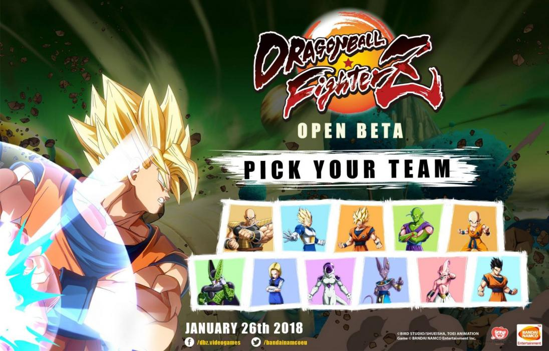 Dragon Ball FighterZ personajes beta