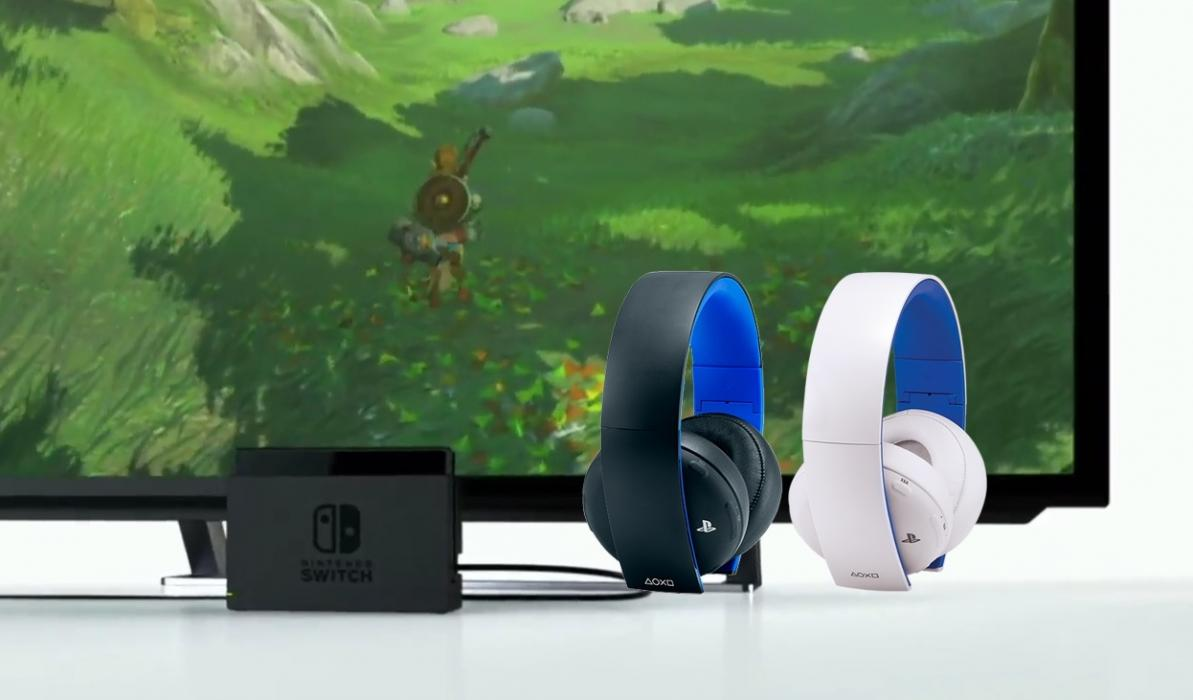 Cascos de PS4 en Nintendo Switch