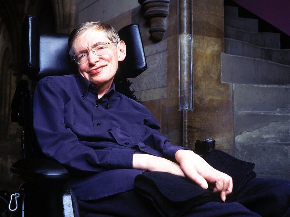 Stephen Hawking sonriente.