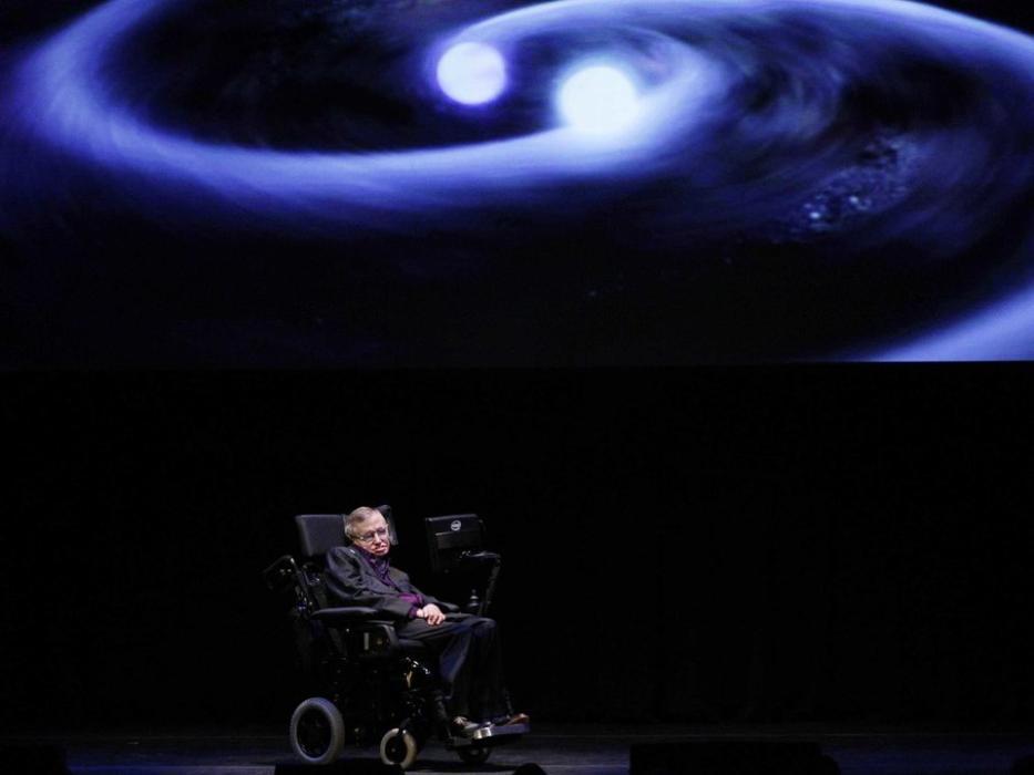 Stephen Hawking en una conferencia.