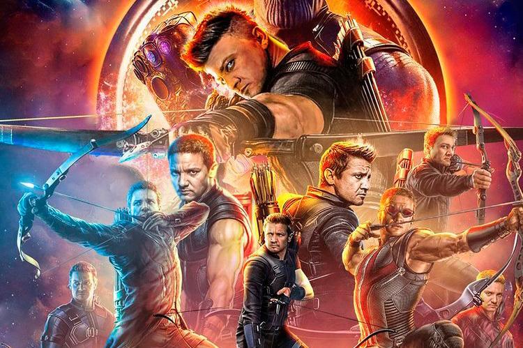 Ojo de Halcón fan póster Infinity War
