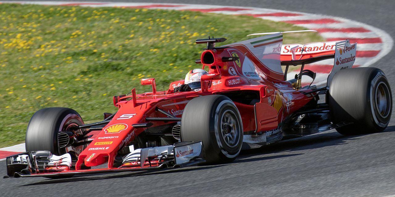 Sebastian Vettel con Ferrari en Fórmula 1