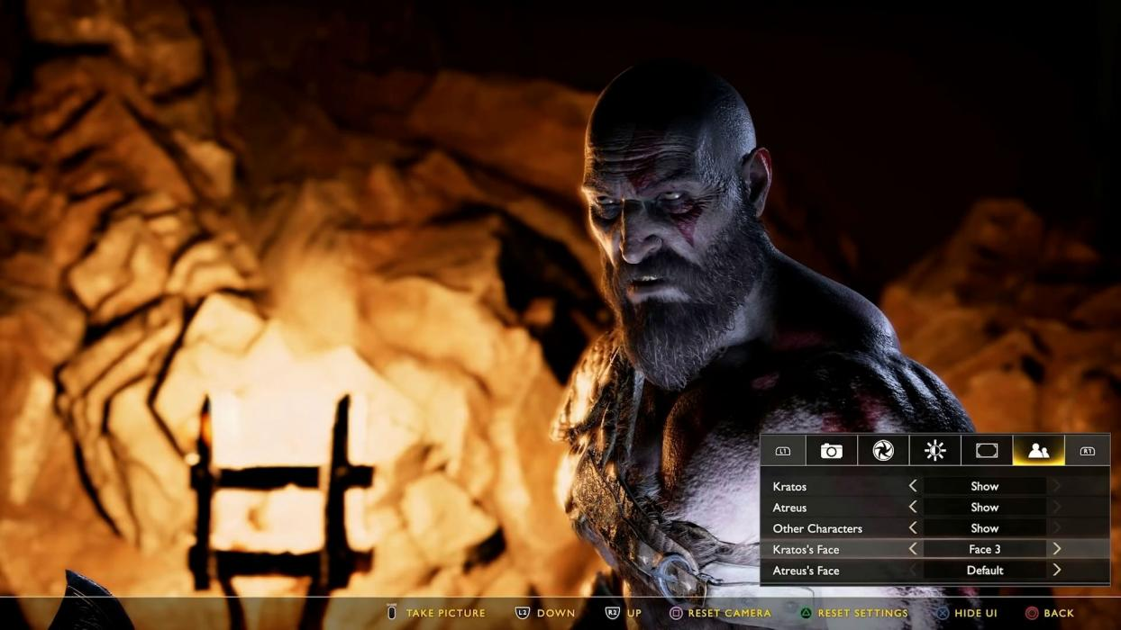 God of War PS4 modo foto