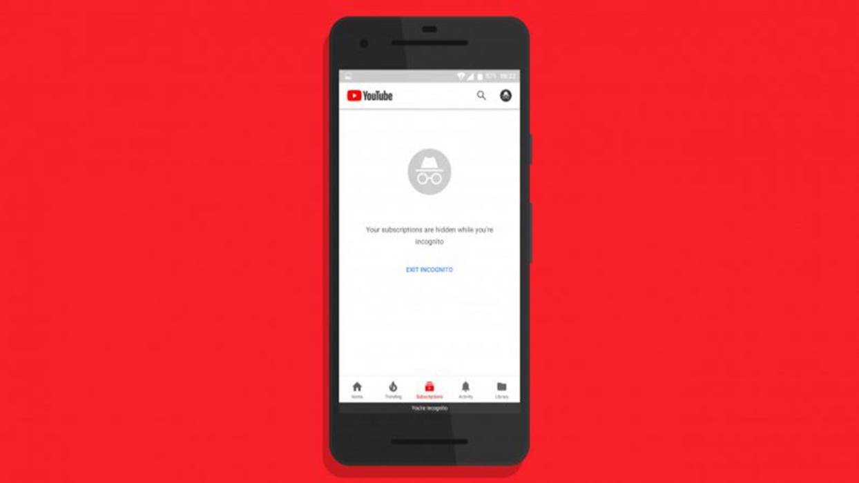 Modo incógnito YouTube Android