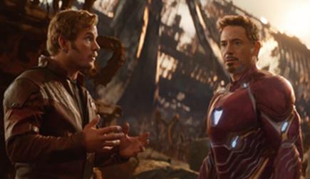 Vengadores Infinity War escena