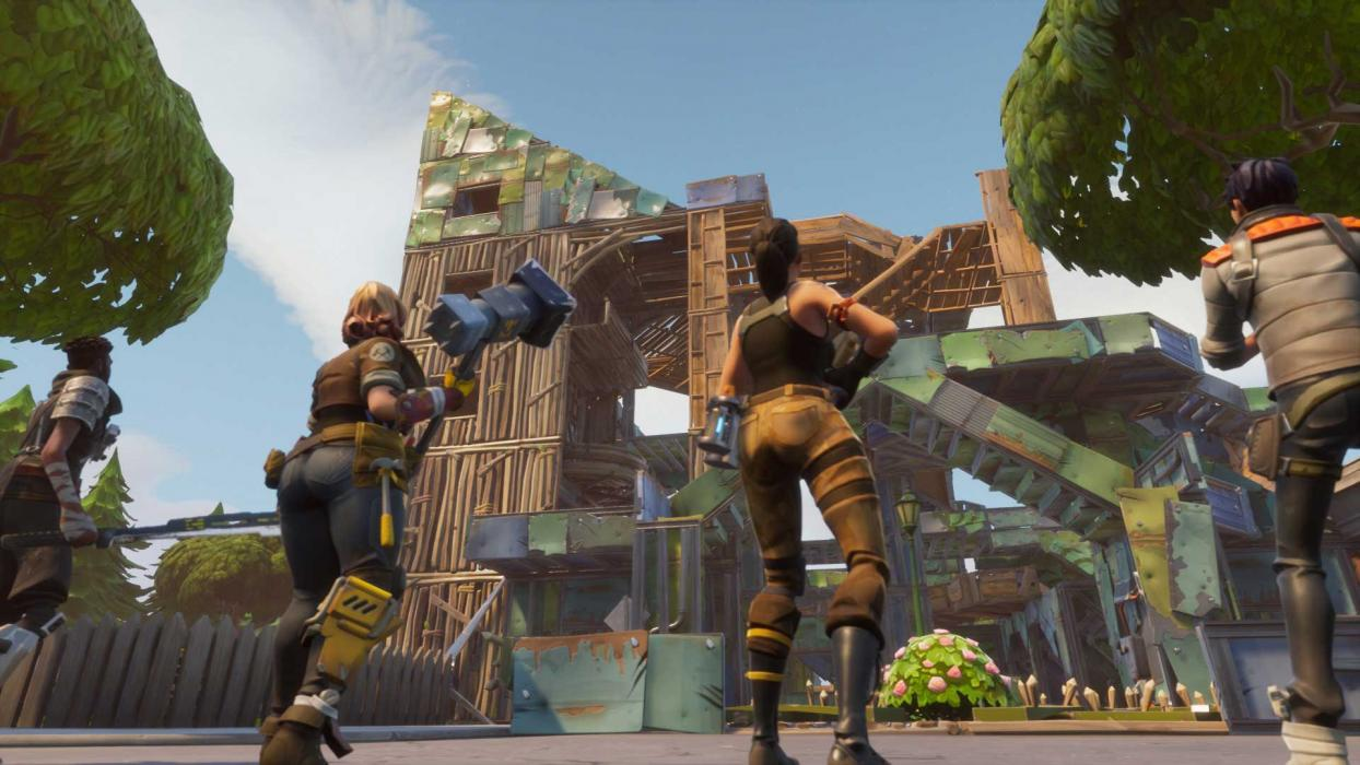 Fortnite Battle Royale construcciones