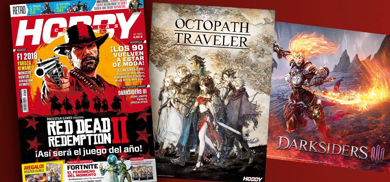 Hobby Consolas 325, a la venta con pósters de Darksiders III y Octopath Traveler