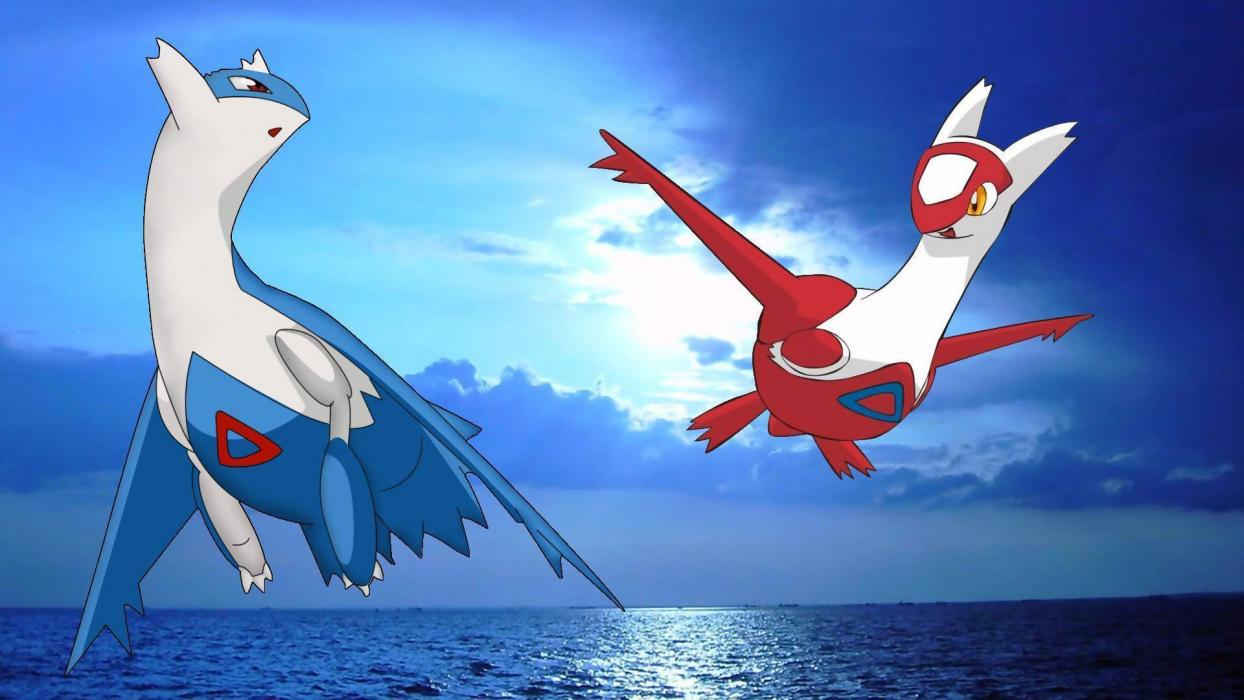 Latios y Latias Pokémon Ultrasol y Ultraluna