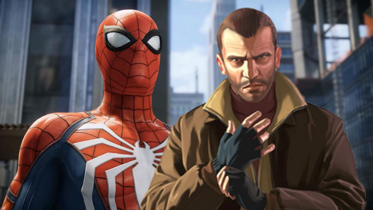 Spiderman PS4 GTA IV