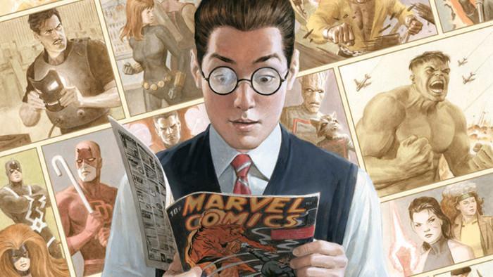 Peter Parker leyendo cómic Marvel