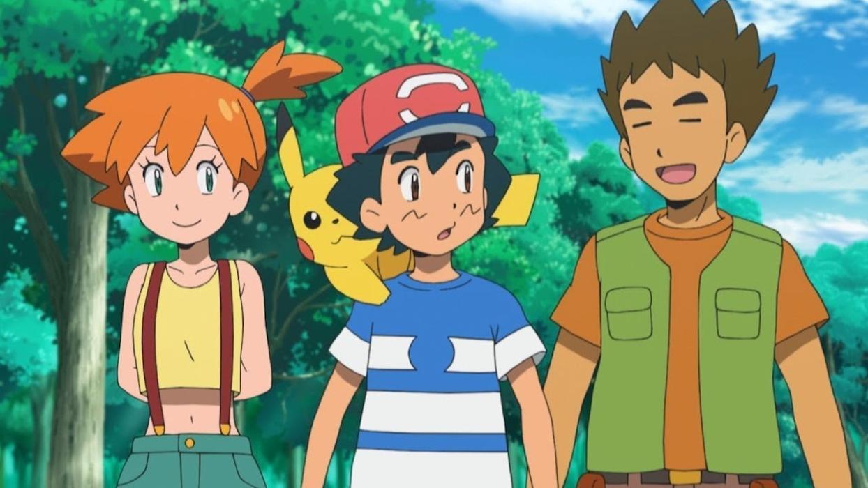 Pokémon - Misty, Ash y Brock