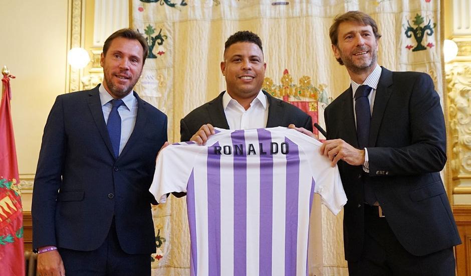 Ronaldo Nazario, en su presentación como presidente del Valladolid
