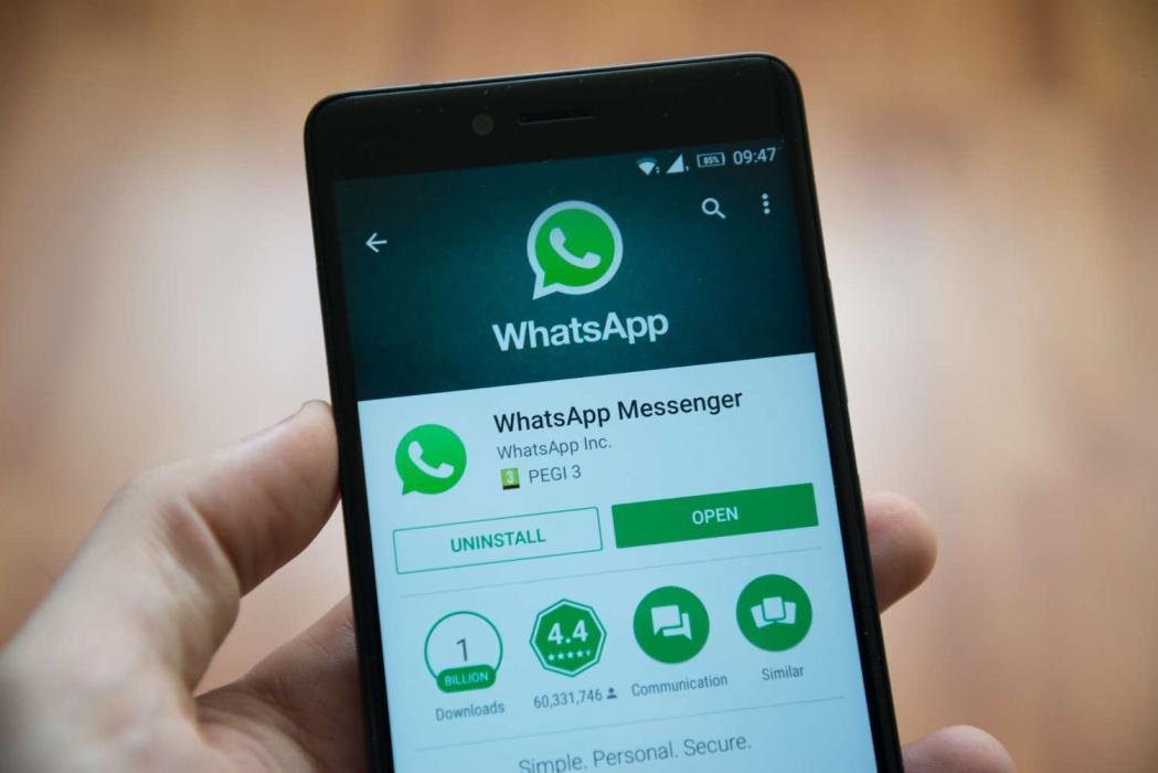 Aplicación de WhatsApp en móvil Android