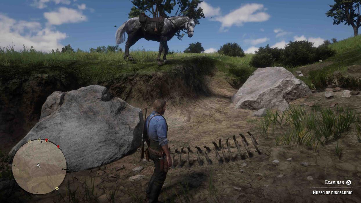 Huesos de dinosaurio red dead redemption 2