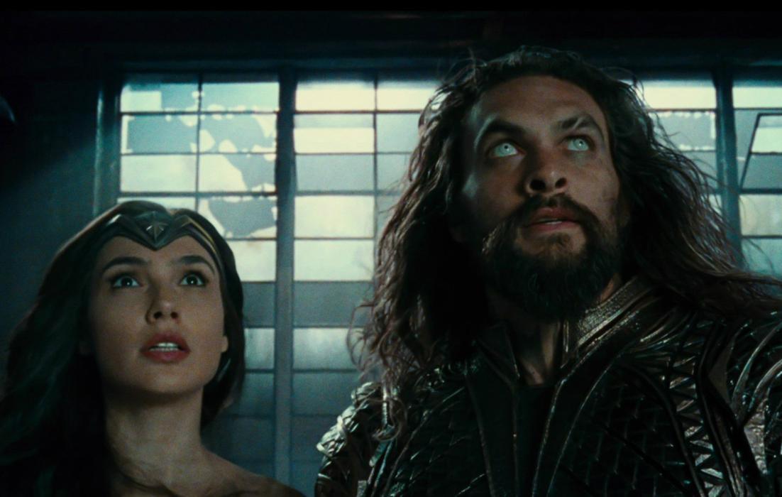 Wonder Woman y Aquaman en Liga de la Justicia