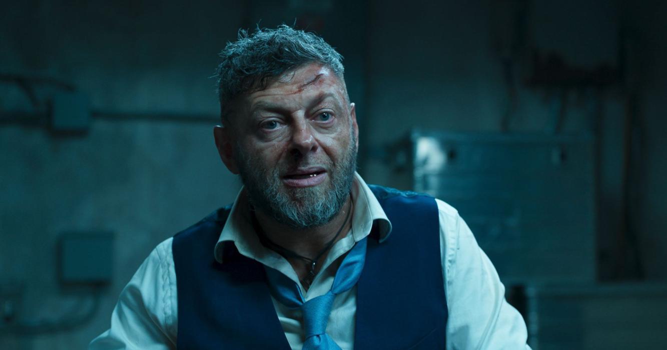 Andy Serkis como Ulysses Klaue en Black Panther