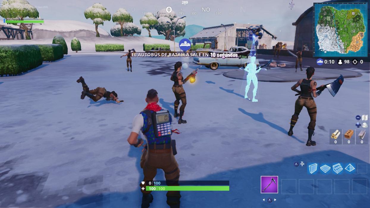 Golpea a un jugador con una bola de nieve en partidas distintas Fortnite