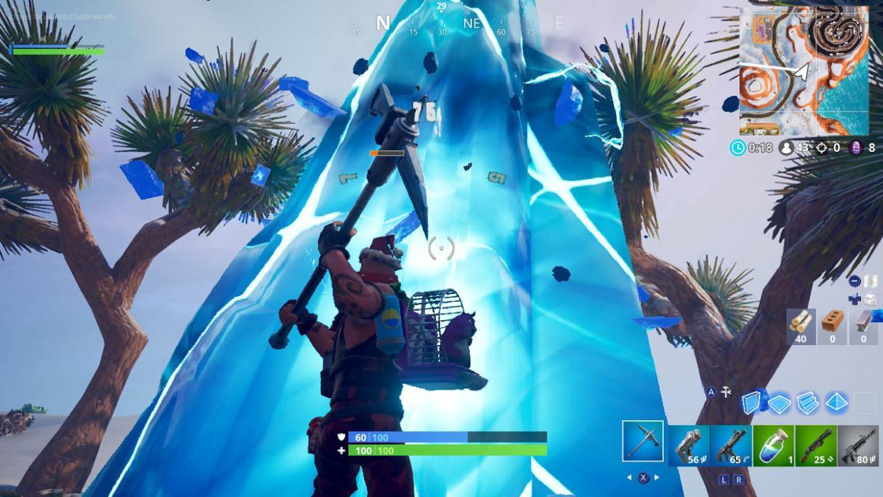 Destruye un fragmento de hielo en partidas distintas fortnite tormenta de hielo dia 4