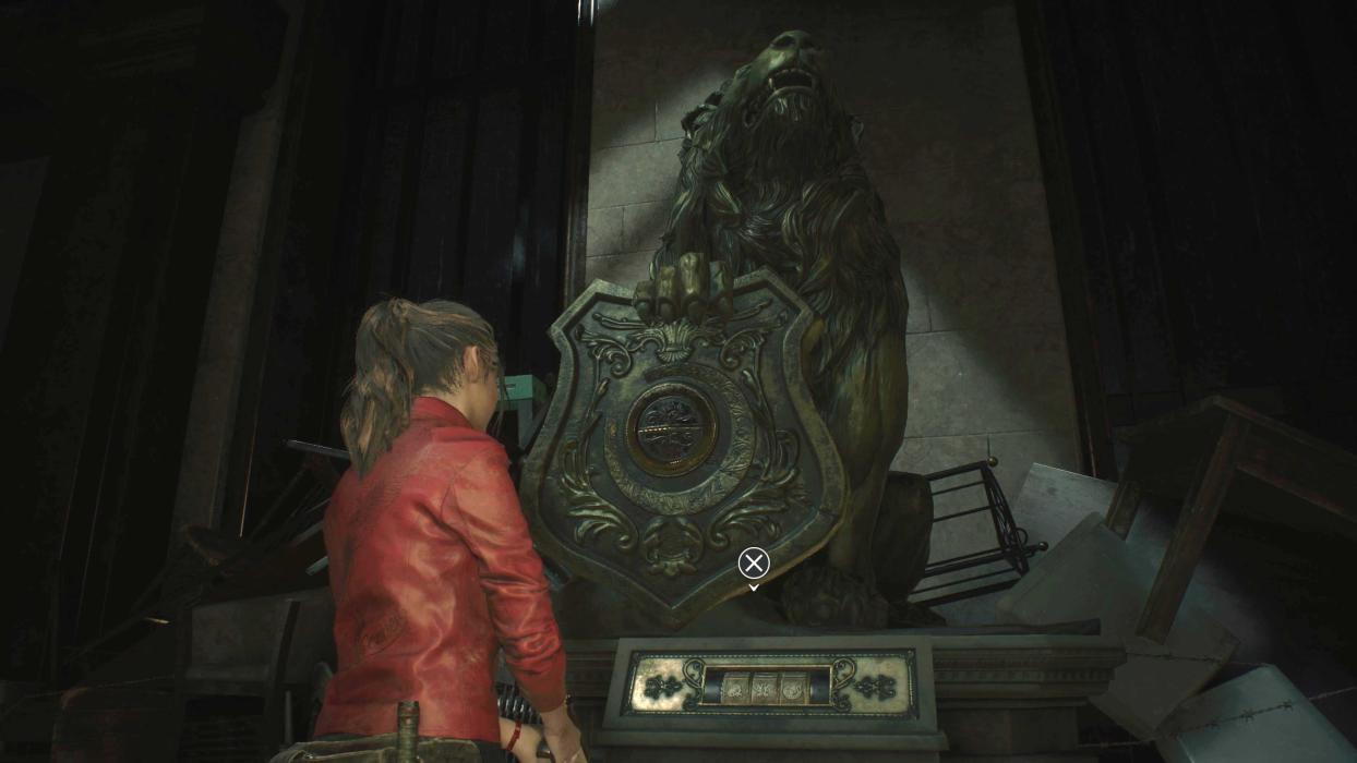    Taquillas, cajas fuertes mecanismos con contraseña Resident Evil Remake 2