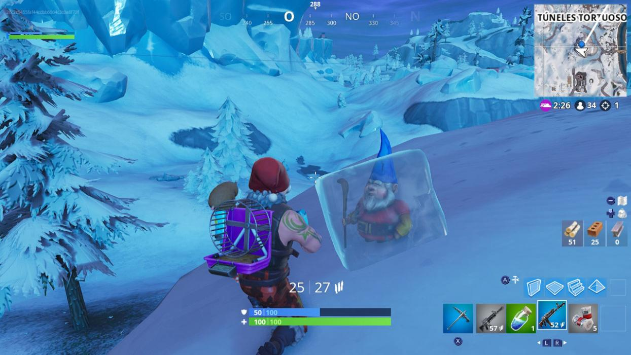 donde estan gnomos congelados fortnite