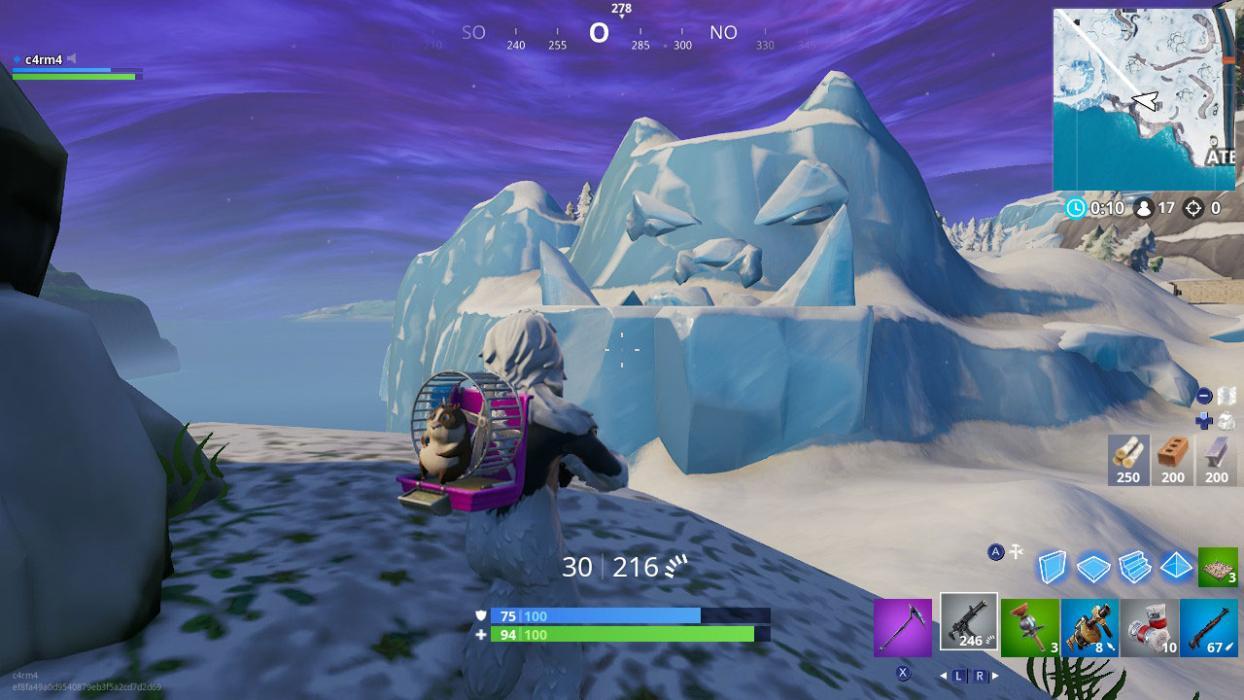 Visita una cara gigante en el desierto en la jungla y la nieve Fortnite