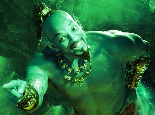 Aladdin 2019 - El genio estuvo a punto de ser verde en la película original