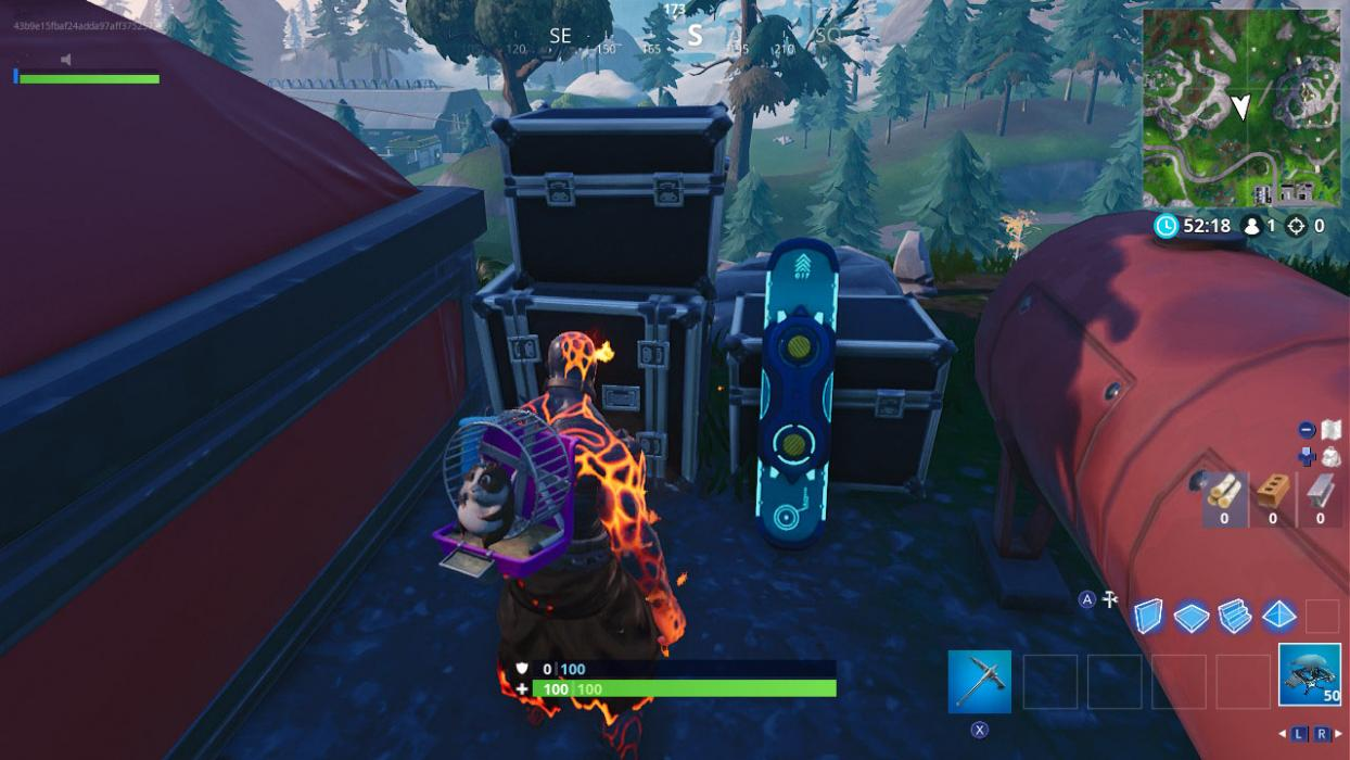 donde encontrar driftboard fortnite