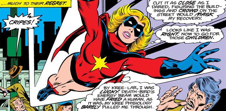 Carol Danvers, Capitana Marvel, a través de los años