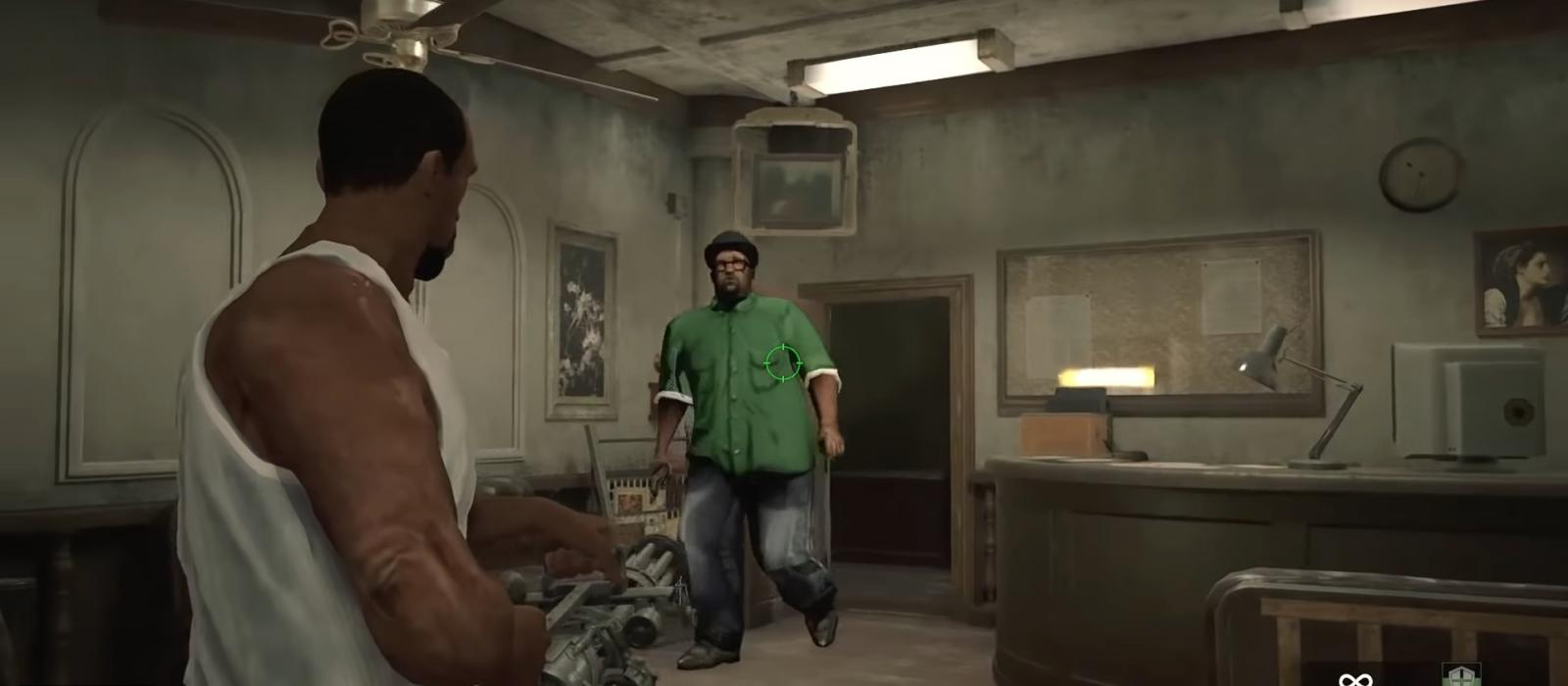 CJ y Big Smoke en Resident Evil 2 Remake gracias a un mod