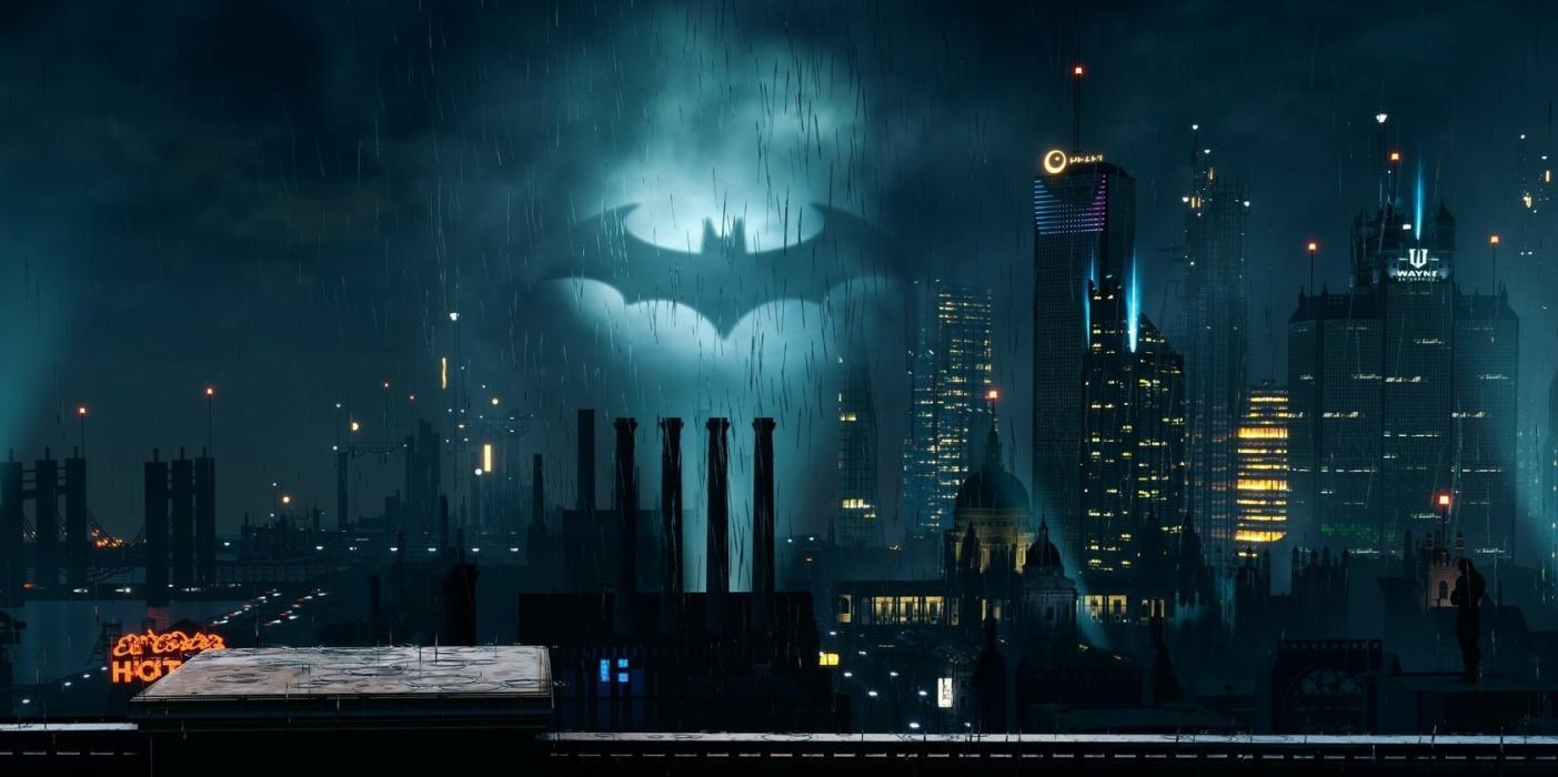 La imagen original de la ciudad de Gotham con Unreal Engine