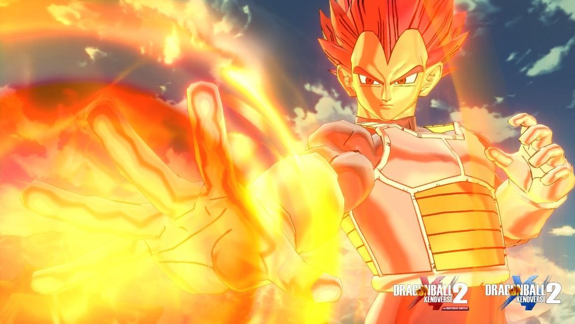 Vegeta Super Saiyan Dios en Dragon Ball Xenoverse 2
