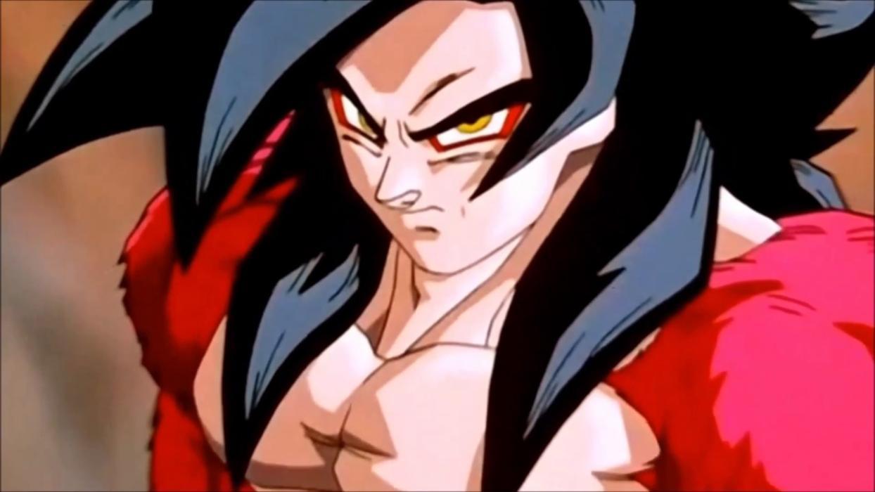 Goku Super Saiyan 4 VS Vegeta Baby