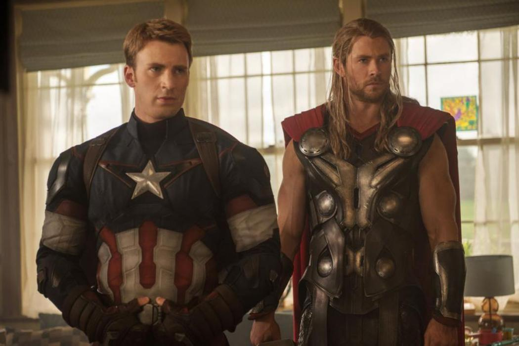 Chris Evans Capitán América Chris Hemsworth Thor Avengers Marvel.